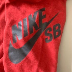 Nike Bottoms - Boys Youth Red Nike SB (skateboarding) sweat pants